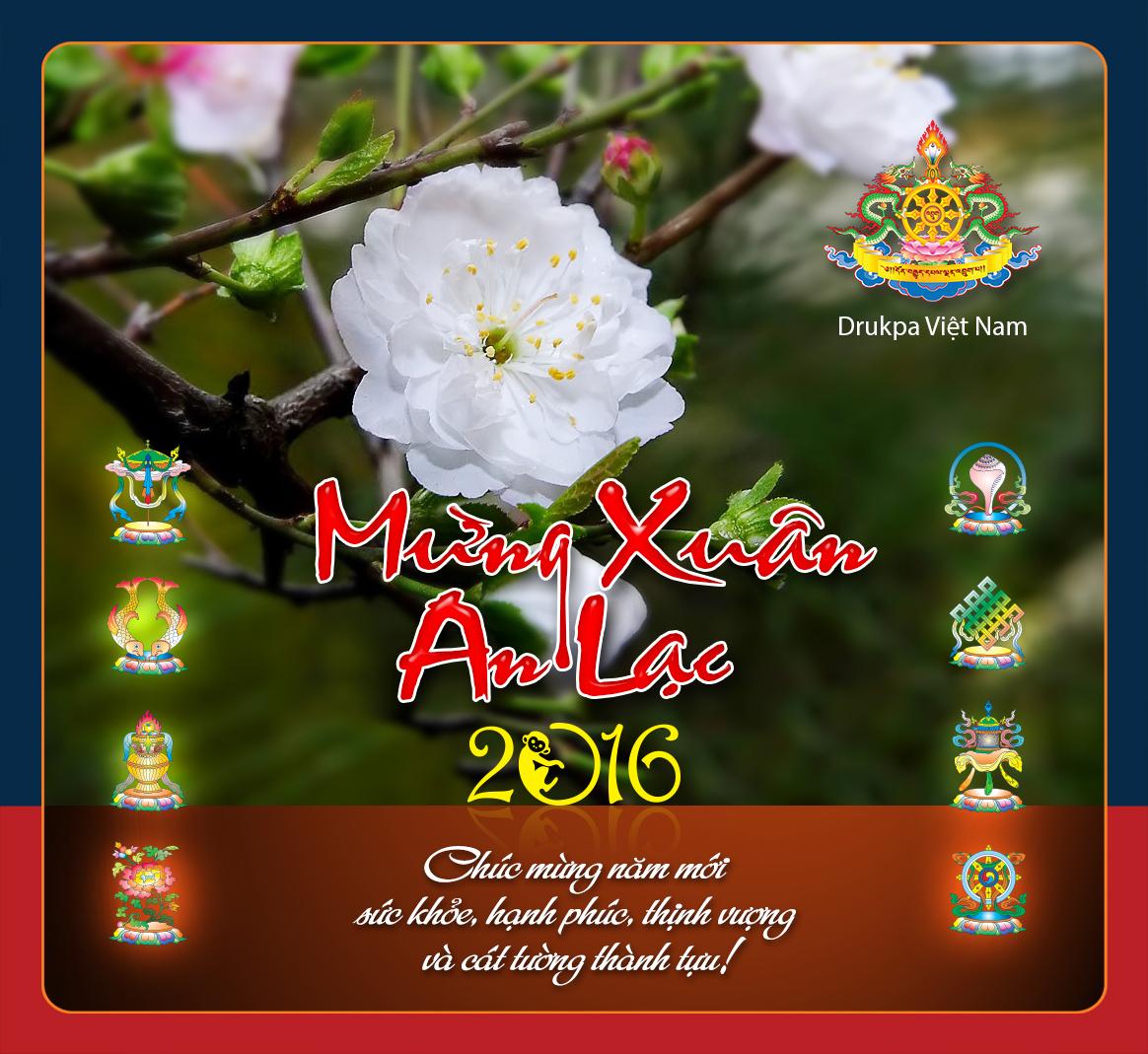 Drukpa Việt Nam mừng xuân an lạc 2016